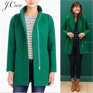 J. Crew City Cocoon Coat in Emerald Green - 2